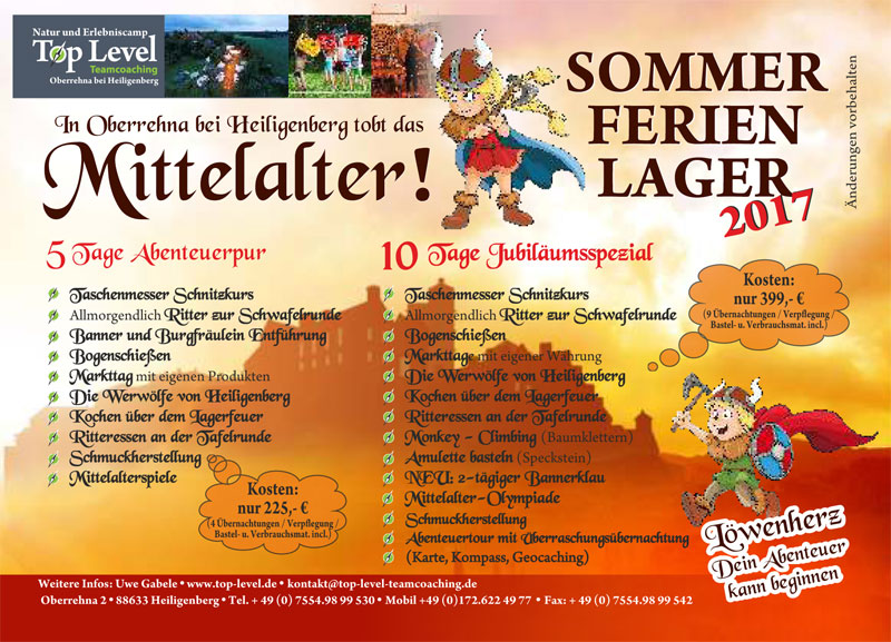 Gabele Top Level Sommer Feriencamp A6 2017 1